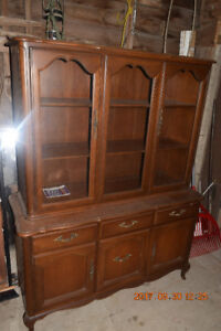 """Table, includes 2 -16"""" extensions, 6 chairs, Buffet and Hutch"""