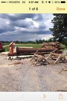 Sawmill with operater for hire