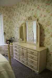 **REDUCED PRICE** Antique Style Solid Wood Bedroom Set