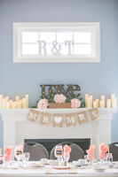 Decor pieces for weddings, showers and special events