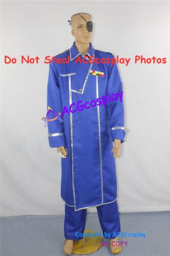 Fullmetal Alchemist King Bradly Cosplay Costume include eyepatch acgcosplay