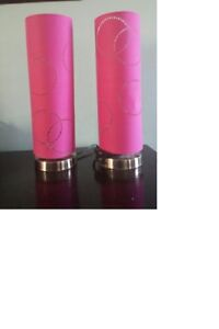 Two Hot Pink table lamps