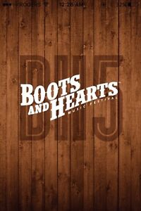 4 Boots and Hearts GA + RV tickets full event