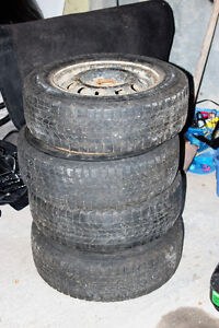 """14"""" Rims with low tread winter tires"""