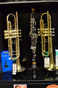 New and Used Trumpets, Trombones, Flutes and more...