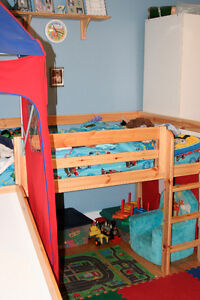 Loft Castle Bed with Slide