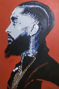 Nipsey Hussle Painting orignal 36x24in