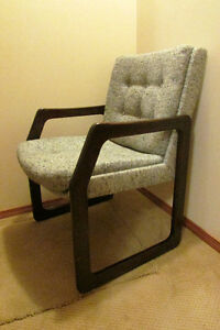 2 Wood Office Chairs