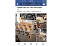 Double metal bed only £60ono