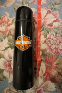Harley Davidson Black Logo Stainless Coffee Thermos 10in 500ml