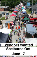 VENDORS WANTED - Shelburne ont