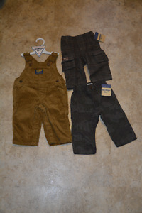 Osh Kosh Overalls and 2 Pairs of Pants 6 months (Brand New)