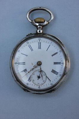 Silberne Taschenuhr, um 1900