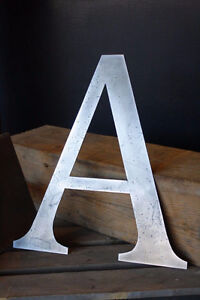 Steel Letters & Sign
