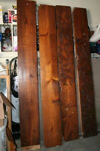 """7' Pine Supports, 2"""" thick, 1' wide - Stained and Ornamental"""