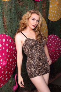 Pinup Couture Marilyn Swimsuit in Leopard - Never worn