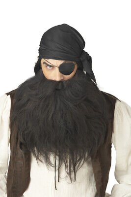 Mustache Halloween Costume (Pirate Beard & Moustache Halloween Costume Wig)