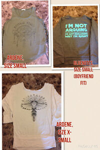Take all three tops for $10!