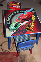 Kids Lightning McQueen table with 2 chairs