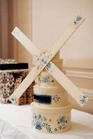 Delft Blue Dutch Themed Windmill Card Box