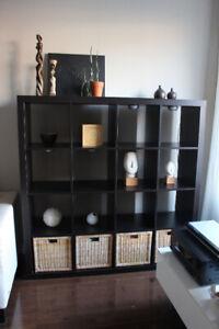 KALLAX Display Shelf Unit   |   Ikea   |   Black Brown