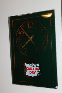 Vintage Canada Dry Ginger Ale Clock