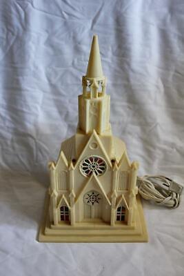 Vintage RAYLITE Christmas Light Up Church Music Box Silent Night ()