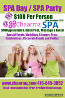 $100 Spa Day Package Includes Mani+Pedi+Facial+Massage 3 HRs