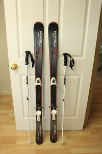 "Tecno Pro 140 Downhill skis and 44"" poles"