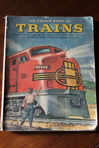The Golden Book of Trains by Jane Werner 1953