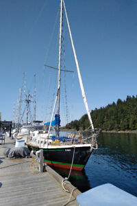 1988 FOLKES STEEL CUTTER RIGGED SAILBOAT- OBO