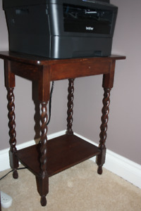 Unique Antique Side Table with Spindle Legs