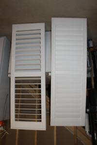 Vinyl Interior Shutters for garden doors