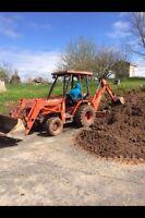 Backhoe work, gravel work, grading, excavations