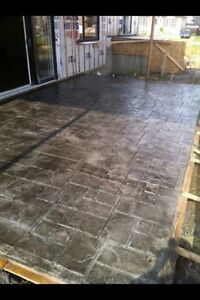 BÉTON ESTAMPÉ,EPOXY,COFFRAGE EXCAVATION,PYRITE Rbq: 5699-4932-01