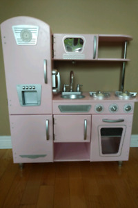 KidKraft Pink Retro Kitchen with accessories