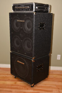 Taynor DynaBass 400 head with 4x10 and 1x15 cabs