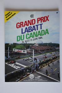 Formula One CANADA Grand Prix Labatt 1984 Official Program