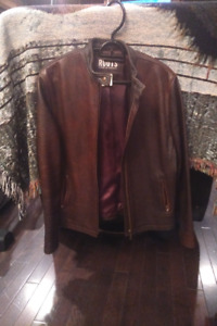 Roots Brown Leather Coat