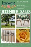 SALE ON RENTALS WHEN BOOKING IN DECEMBER