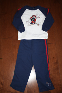 Long Sleeve Shirt and Pants Hockey Outfit - 4T(3X)