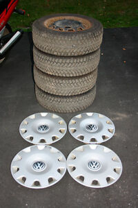 195/65R 15 Tires $200.00, rims $90.00 and hubcaps $60.00.