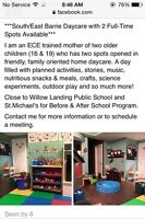 SouthEast Barrie Home Daycare