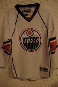 Oilers White Jersey