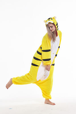 Tiger Costume For Men (Women Men Unisex Adult Onesie0 Animal Tiger Kigurumi Pajamas Cosplay)