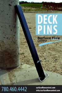 Deck Pins | Surface Flow Control