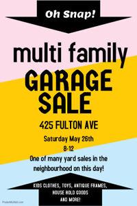 Fulton Avenue Yard Sale!