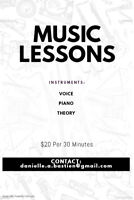 Voice, Piano, Theory Lessons