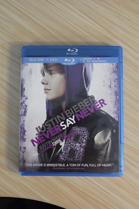 Inception, Never Say Never (Bieber), The Bucket List Blu-rays