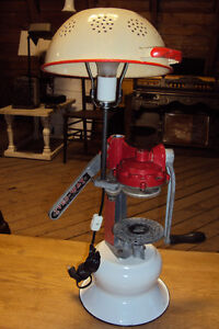 RETRO LAMP MADE FROM VINTAGE COLLECTIBLES